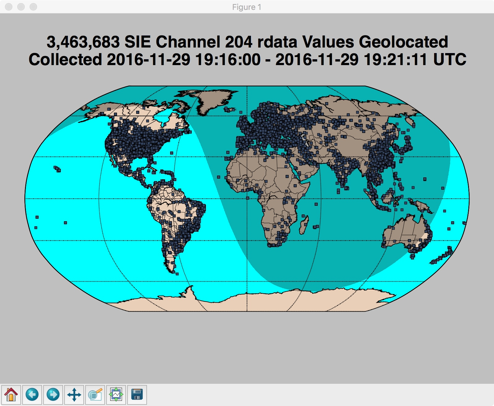 3,463,683 SIE Channel 204 rdata Values Geolocated