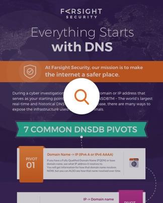 Passive DNS historical internet database: Farsight DNSDB