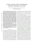 A Study of Newly Observed Hostnames and DNS Tunneling in the Wild