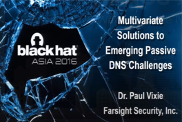 Multivariate Solutions To Emerging Passive DNS Challenges